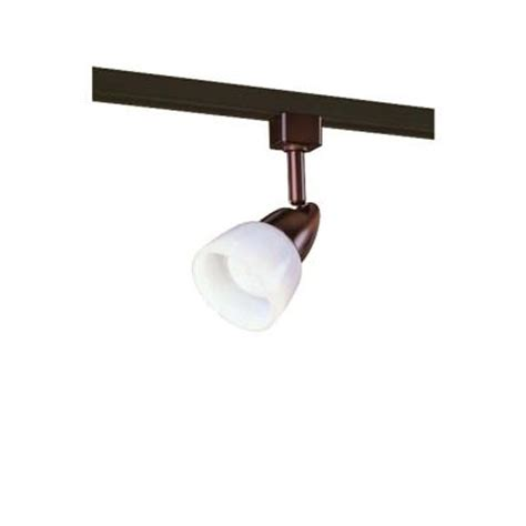 home depot track lighting hton bay 1 light rubbed bronze linear track