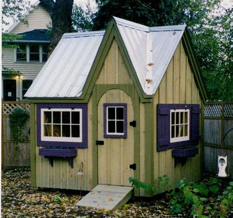 dollhouse garden shed diy plans  cottage playhouse