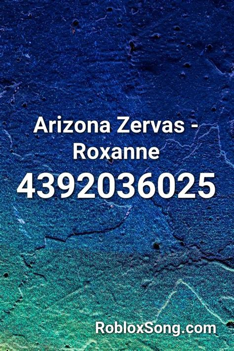 We have 2 milion+ newest roblox music codes for you. Arizona Zervas - Roxanne Roblox ID - Roblox Music Codes in 2020 | Songs, Roblox, Chicken song