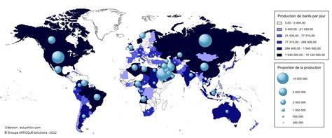 carte des pays producteurs de p 233 trole