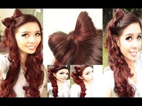 easy hair styles for school easy bow hair tutorial plus a kawaii high side ponytail 3608