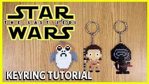 STAR WARS Keyring (Rey, Kylo Ren & Porg), Mini Perler Bead