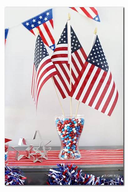 Party Patriotic Tablescape Skittles Candy Vase American
