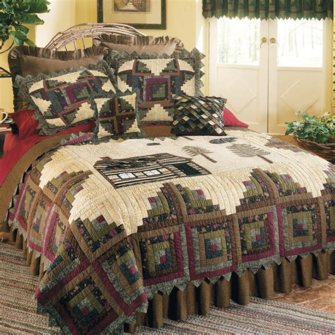 floral quilt bedding northwoods quilt bedding by donna sharp