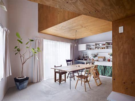 interior design  wood white  green accents