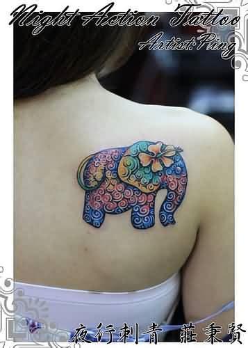 baby elephant tattoos ideas