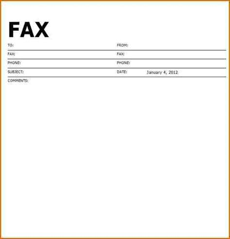 Fax Cover Letter Format by 6 Fax Cover Sheet Format Authorizationletters Org