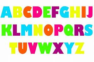 capital letters With pictures of letters ofthe alphabet