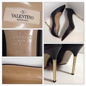 Valentino Black Extreme Heel Rockstud It39.5 Pumps Size US ...