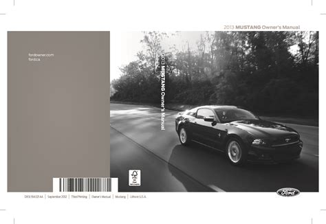 ford mustang owners manual  give   damn manual