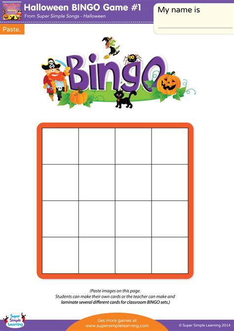 halloween bingo game  super simple