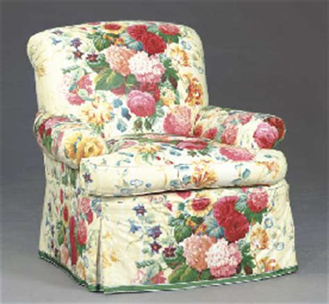 two contemporary floral chintz covered club chairs