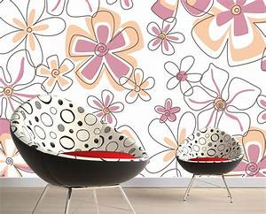 Wall decor by floral wallpaper d house free