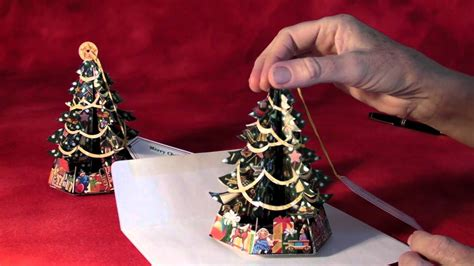 pop up card box template christmas traditional pop up tree greeting cards