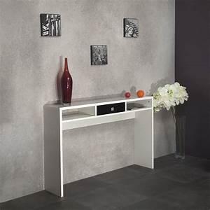 Console D Entrée Blanche : console contemporaine blanc noir alrik en 2019 meuble d 39 entr e design console et consoles ~ Voncanada.com Idées de Décoration