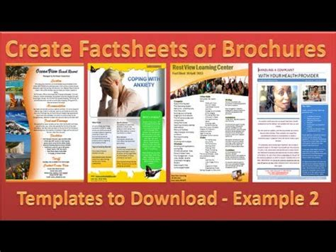 brochure    brochures  microsoft word