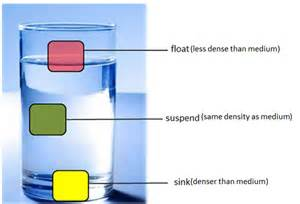 density sink float or suspend science is fun
