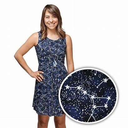 Dark Glow Dresses Stars Constellation Night Shine