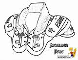Coloring Football Armour Under Shoulder Pads Boys Yescoloring Gear Nfl Template Shoe Mega Colorare Players Excel Larger Credit Recommended sketch template