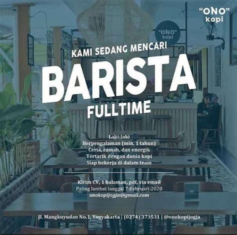 Trans jogja'daki bilet fiyatları seyahat bazlıdır. Lowongan Kerja Barista Ono Kopi Jogja - Indah Pratiwi di Yogyakarta, 5 Feb 2020 - Loker | AtmaGo