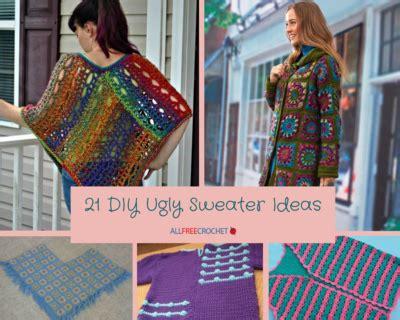 diy ugly sweater ideas allfreecrochetcom