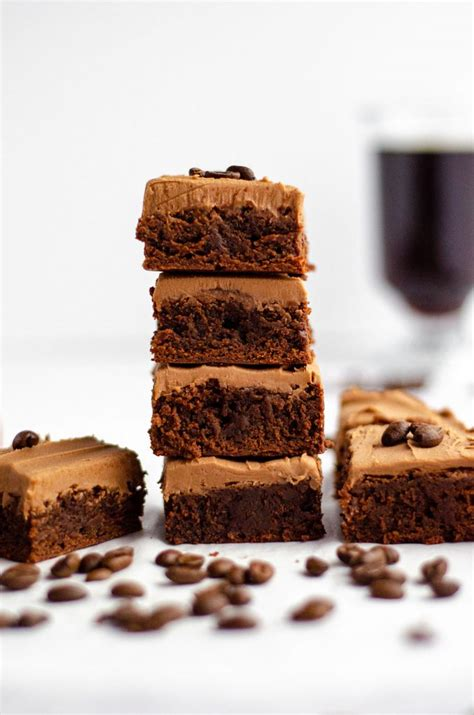 If you love brownies and you love coffee, coffee brownies are where it's at. Coffee Brownies with Mocha Frosting