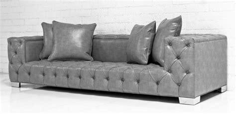 gray leather tufted sofa www roomservicestore com tufted fat boy sofa in grey