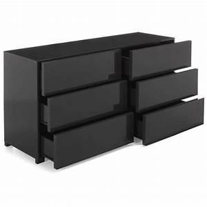 Commode Grise Ikea : commode 2x3 tiroirs grise gloss futur petit appart pinterest ~ Melissatoandfro.com Idées de Décoration