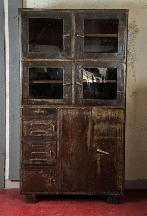 vintage metal cabinets vintage industrial metal storage cabinet at 1stdibs