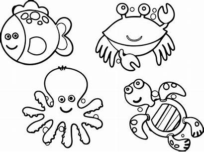 Coloring Pages Animal Cool Sea Printable Getcolorings