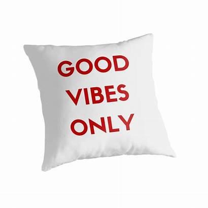Vibes Pillows Redbubble Pillow Ideasforartists Throw
