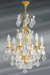 lustre dor 233 cristal de boh 232 me 6 lumi 232 res louis xv lucien gau luminaires classiques de