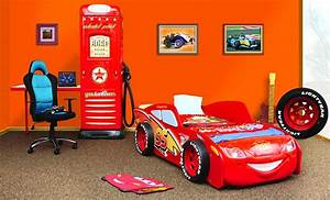 kinder bett cars haus ideen With markise balkon mit lightning mcqueen tapete