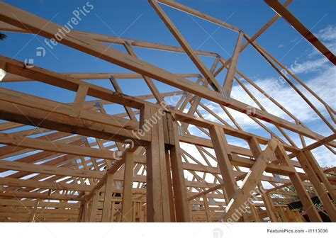 construction building frame structure stock photo