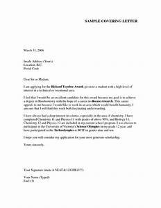 cover letter samples for freshers letter