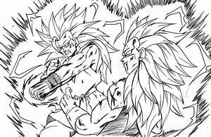Goku Ssj2 Vs Majin Vegeta Coloring Pages Coloring Pages