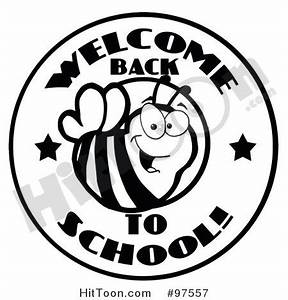 Free Back to School Black and White Clipart