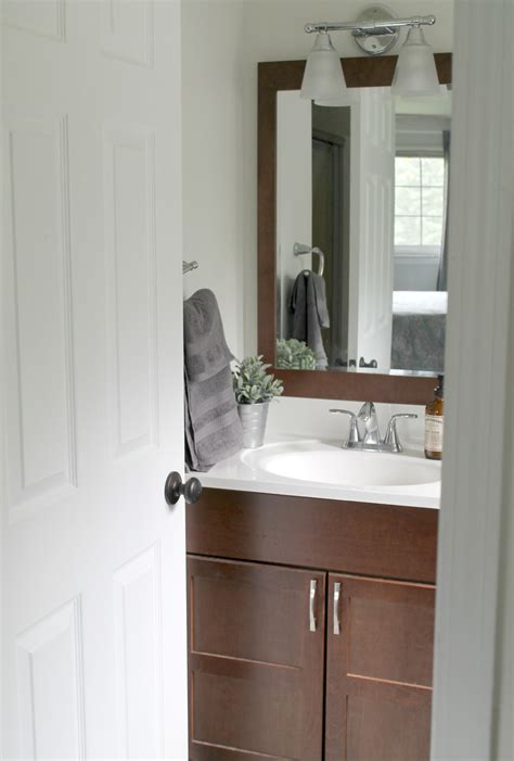 Small Bathroom Makeovers On A Budget by Budget Friendly Small Bathroom Makeover