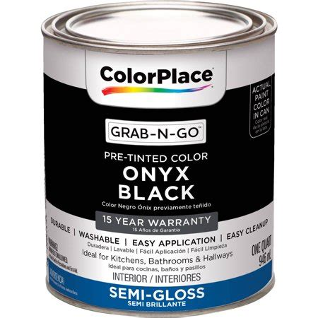 colorplace grab n go onyx black interior paint with duck brand clean release painter s tape 0