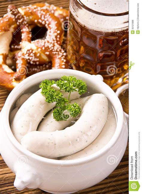 cuisine bavaroise saucisse blanche bavaroise photo stock image du