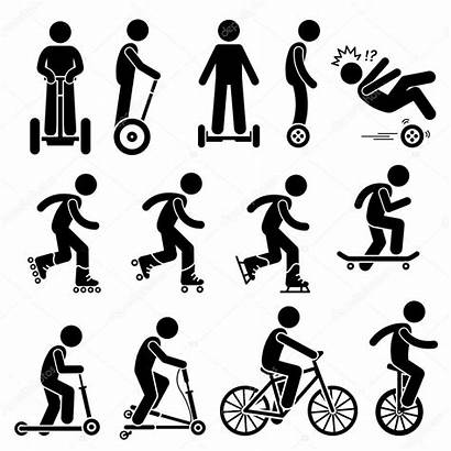 Clipart Stick Figure Ride Human Skateboard Riding
