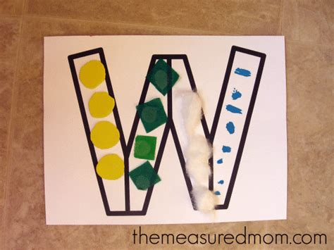 letter w crafts letter w crafts the measured