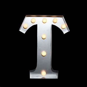 Marquee light letter 39t39 led metal sign 10 inch battery for Metal letters with lights