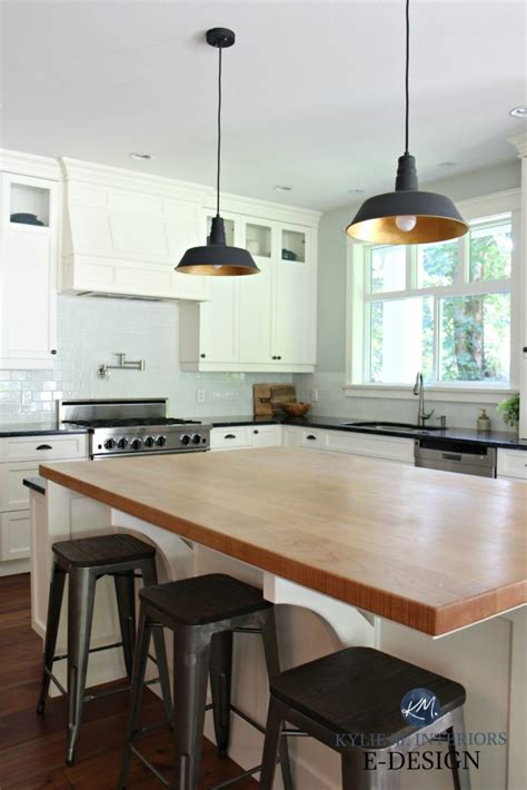 kylie  interiors edesign butcher block island