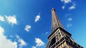 Sky Touching Eiffel Tower Wallpaper