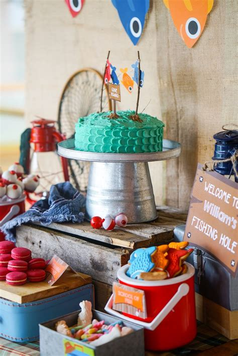 Kara's Party Ideas William's Gone Fishing Birthday Party