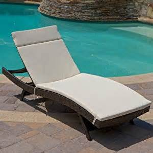 amazon com outdoor chaise lounge with cushion patio