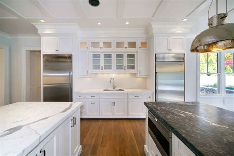 Blue Water Home Builders   kitchens   built in fridge