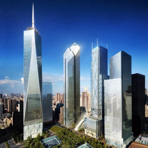world trade center towers wtc  york  architect