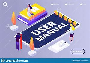 User Manual Concept  People With Guide Instruction On